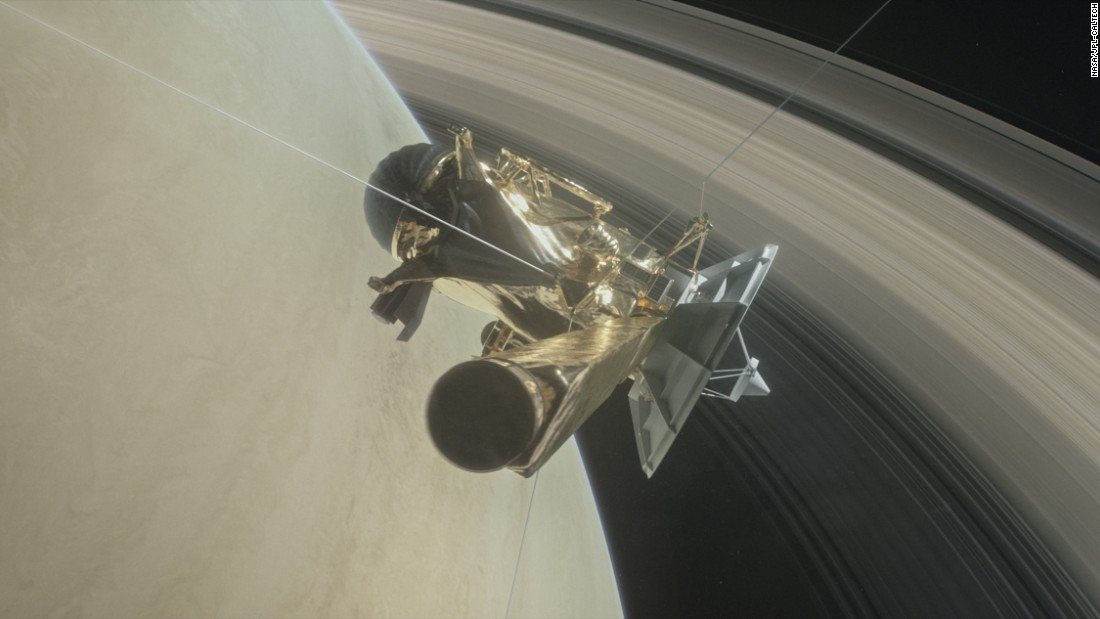 Cassini Probe Shoots Through Saturn's Rings?