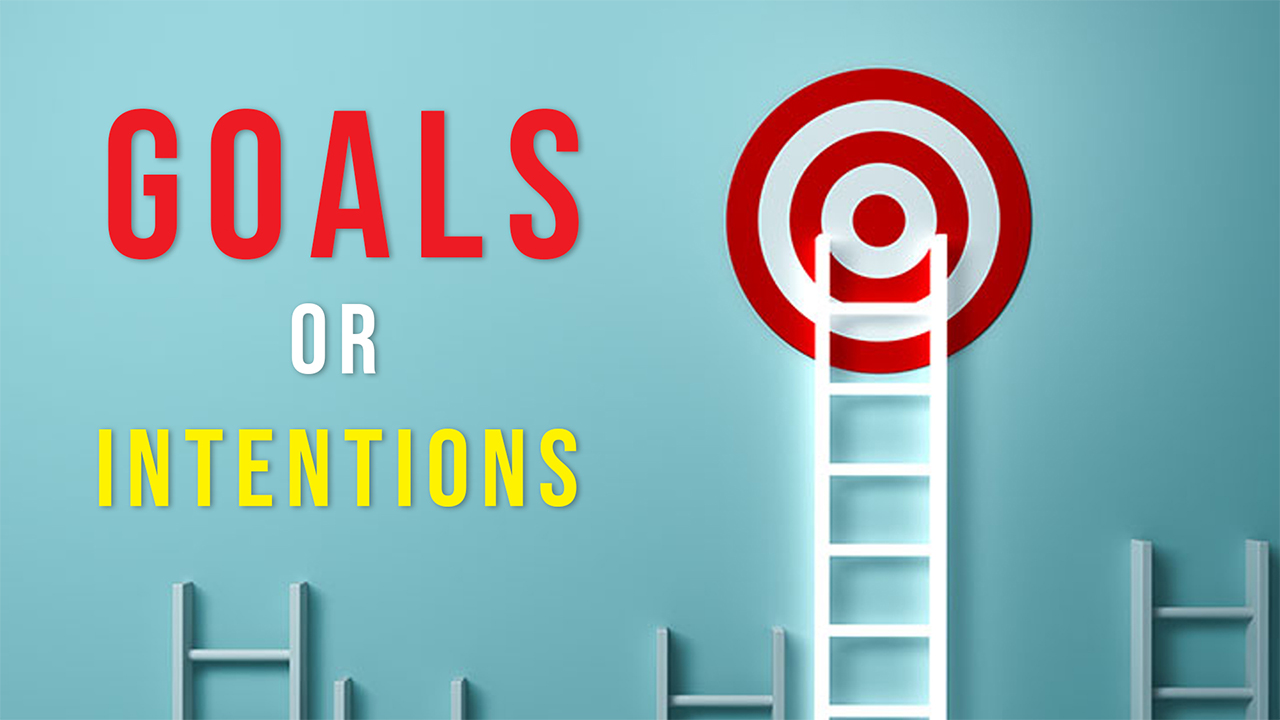 Intentions Vs Goals: which is mightier?