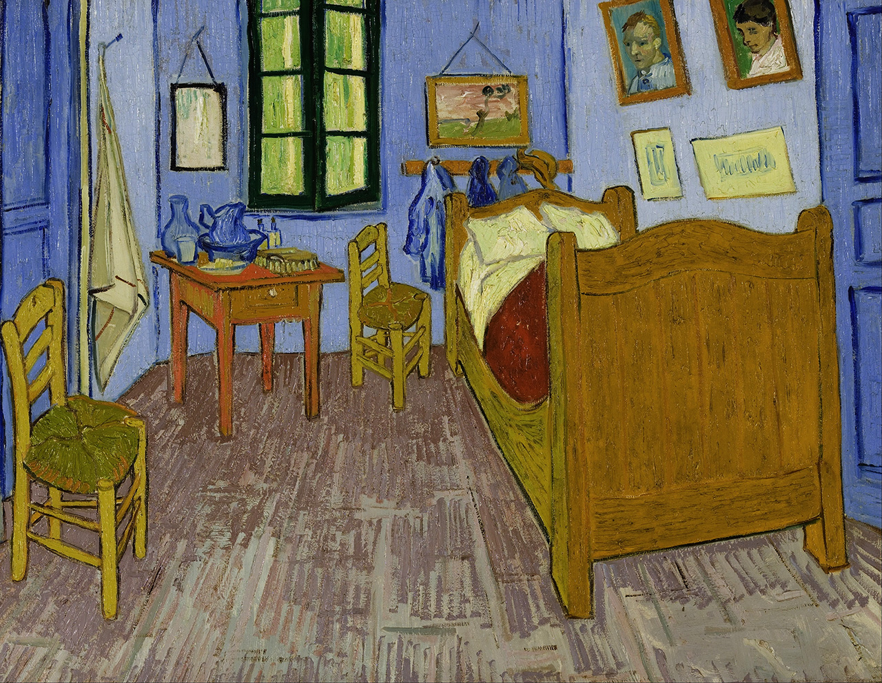 The bedroom painting by Vincent Van Gogh